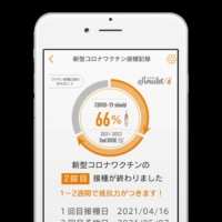 MinaCare Co.'s vaccine and health monitoring app | KYODO
