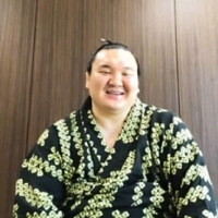 Hakuho speaks during an online news conference on Monday.  | JAPAN SUMO ASSOCIATION / VIA KYODO