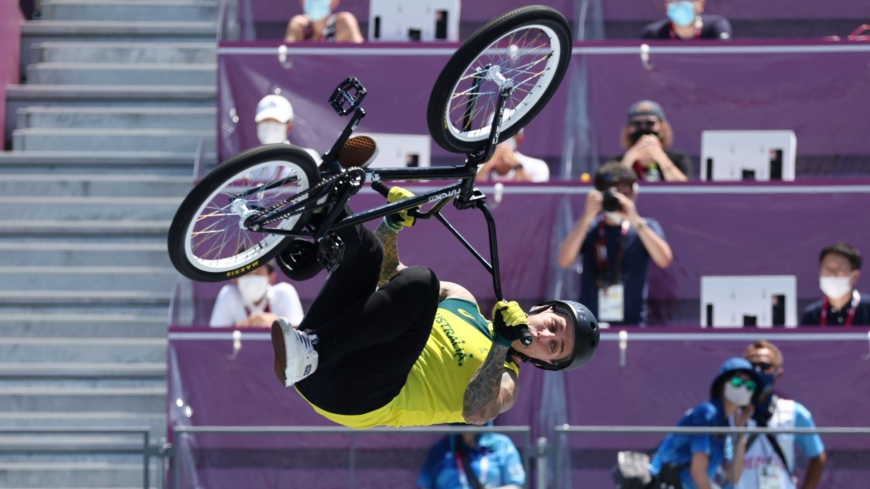 Thrills, spills and gravity-defying tricks as BMX freestyle debuts at Tokyo Games