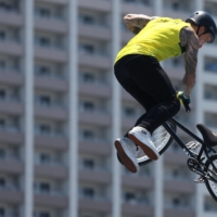 'I'm stoked to be here representing freestyle BMX,' Logan Martin said after the event. 'I think we've shown the world how much camaraderie we have in this sport. We're all mates off the course, but on it we're prepared to do battle.  | REUTERS