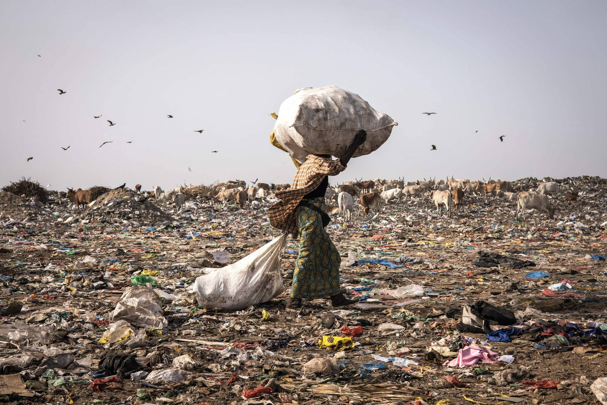 If the world does not abandon the 'take-make-waste' consumption pattern by 2050, humankind will need the equivalent of almost three Earths to provide enough natural resources to sustain current lifestyles.AFP-JIJI    AFP-JIJI