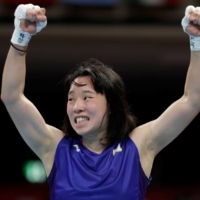 Sena Irie of Japan won gold in the women's boxing featherweight division, beating the 2019 world champion Nesthy Petecio of the Philippines on Tuesday at Ryogoku Kokugikan.  | REUTERS