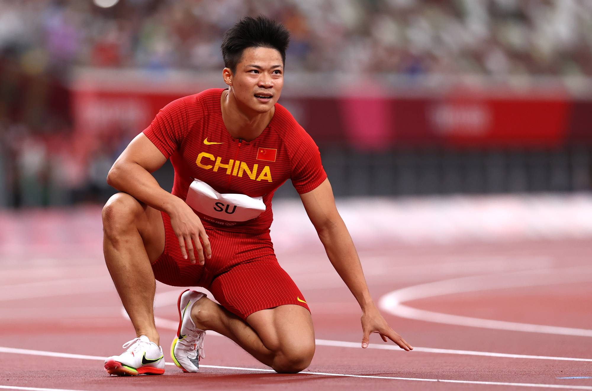 Su  Bingtian finished sixth in the men's 100 meters final on Sunday after qualifying joint-fastest to give China its most high-profile male athletics performance since Liu Xiang won gold in the 110-meter hurdles in Athens in 2004.   REUTERS