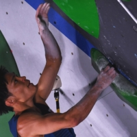 Tomoa Narasaki of Japan has his eyes on the first-ever Olympic gold medal in sport climbing.  | REUTERS