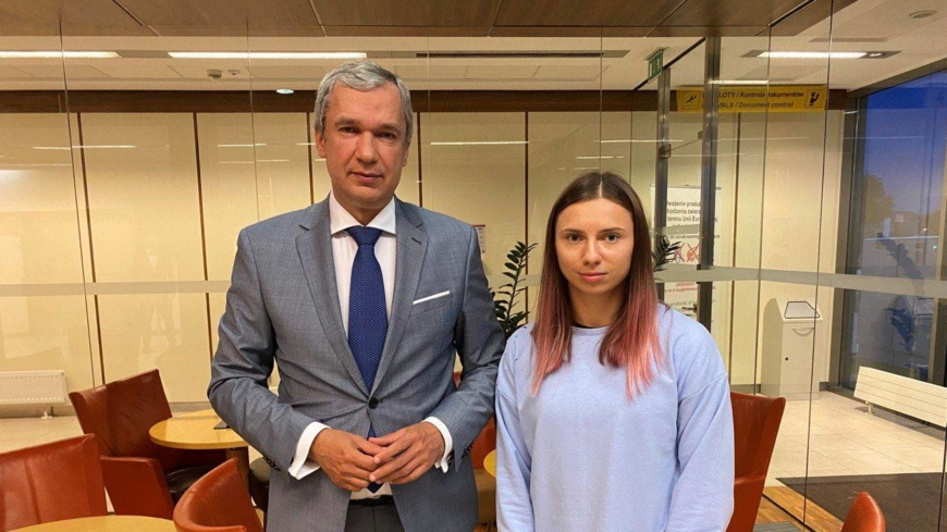 Belarusian sprinter reaches Poland after defying order to return home