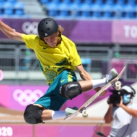 Keegan Palmer of Australia in action in the final of the men's park event on Thursday.  | REUTERS