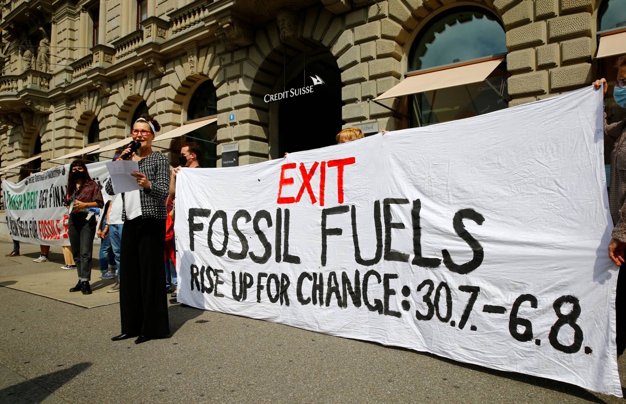 A protest calling for action on climate change in Zurich on July 26 | REUTERS