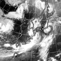 A satellite image shows Tropical Storm Mirinae moving near the Kanto region as of 1 p.m. Sunday. | KYODO