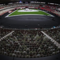 Empty seats at the National Stadium ahead of the 2020 Tokyo Olympics closing ceremony on Sunday | REUTERS