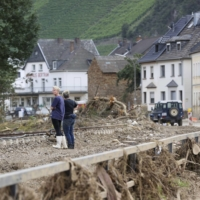 A flooded area in Dernau, Germany, on July 30 | BLOOMBERG