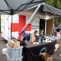 A cooling center in Portland, Oregon, during a heat wave in July   REUTERS