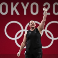 Weightlifter Laurel Hubbard of New Zealand became the first openly transgender woman to participate in the Olympics. | DOUG MILLS / THE NEW YORK TIMES
