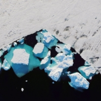 An iceberg floats in a fjord near the town of Tasiilaq, Greenland on June 18, 2018. | usage worldwide  REUTERS