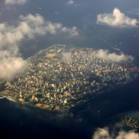 The Maldives capital Male. One of the world's lowest-lying countries, more than 80% of the Maldives' land is less than 1 meter above mean sea level. | REUTERS