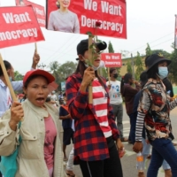Since Myanmar's armed forces overthrew the country's elected government in February, revenge porn has become a weapon employed by both the military junta and its opponents. | DAWEI WATCH / VIA REUTERS