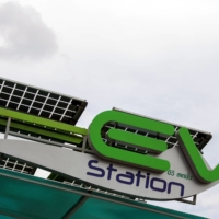 A PTT electric vehicle charging station in Bangkok   REUTERS