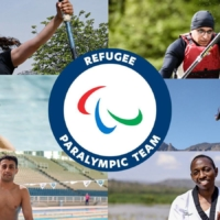 Six athletes who will participate in the Tokyo Paralympics as members of the refugee team | COURTESY OF THE INTERNATIONAL PARALYMPIC COMMITTEE / VIA KYODO