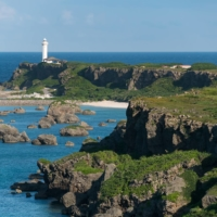 Some may look at the cape of Higashihennazaki at Miyako Island, Okinawa Prefecture, and see a beautifully scenic spot. Others see its proximity to Taiwan as a possible danger if things go south with China.   GETTY IMAGES