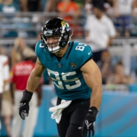 Jacksonville Jaguars tight end Tim Tebow during the team's preseason game against the Cleveland Browns on Saturday.  | REUTERS