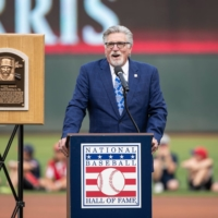 Former pitcher Jack Morris speaks during a tribute to his career at Target Field in Minneapolis in 2018. | USA TODAY / VIA REUTERS
