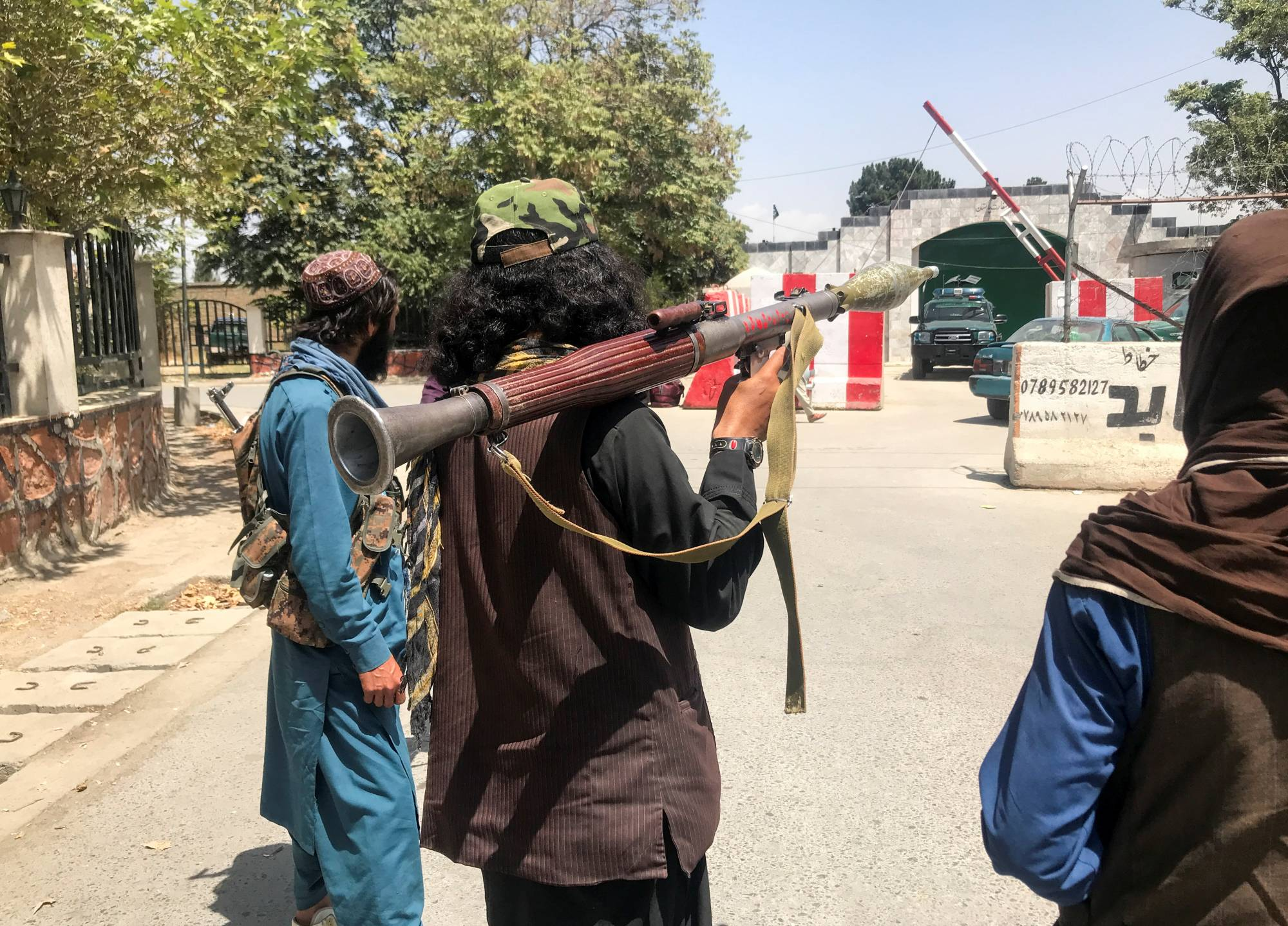 Taliban forces stand guard in Kabul on Monday    REUTERS