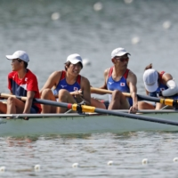 Disabled rowers and able-bodied athletes competing in the same boat at Tokyo Paralympics