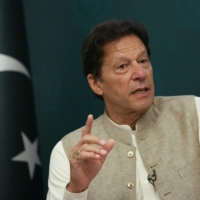 Pakistan Prime Minister Imran Khan speaks during an interview in Islamabad in June.  | REUTERS