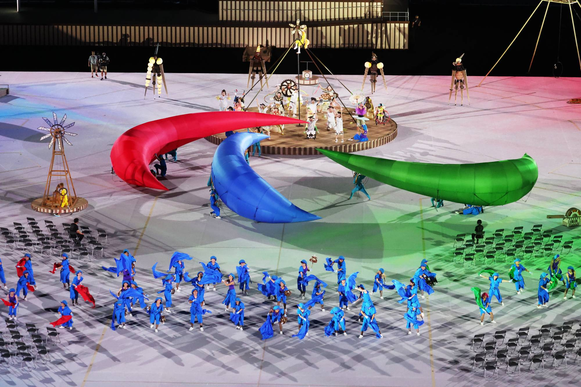 The Tokyo 2020 Paralympic Games Opening Ceremony gets underway in Tokyo on Tuesday. | REUTERS