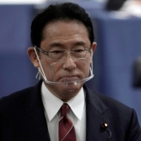 Former Foreign Minister Fumio Kishida after casting his ballot in the Liberal Democratic Party leadership election in September 2020  | POOL / VIA REUTERS