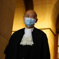 Hong Kong's former chief justice Geoffrey Ma poses outside the Court of Final Appeal after his retirement ceremony in Hong Kong on Jan. 6.   REUTERS