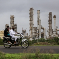 A Reliance Industries oil refinery in Jamnagar, India | BLOOMBERG