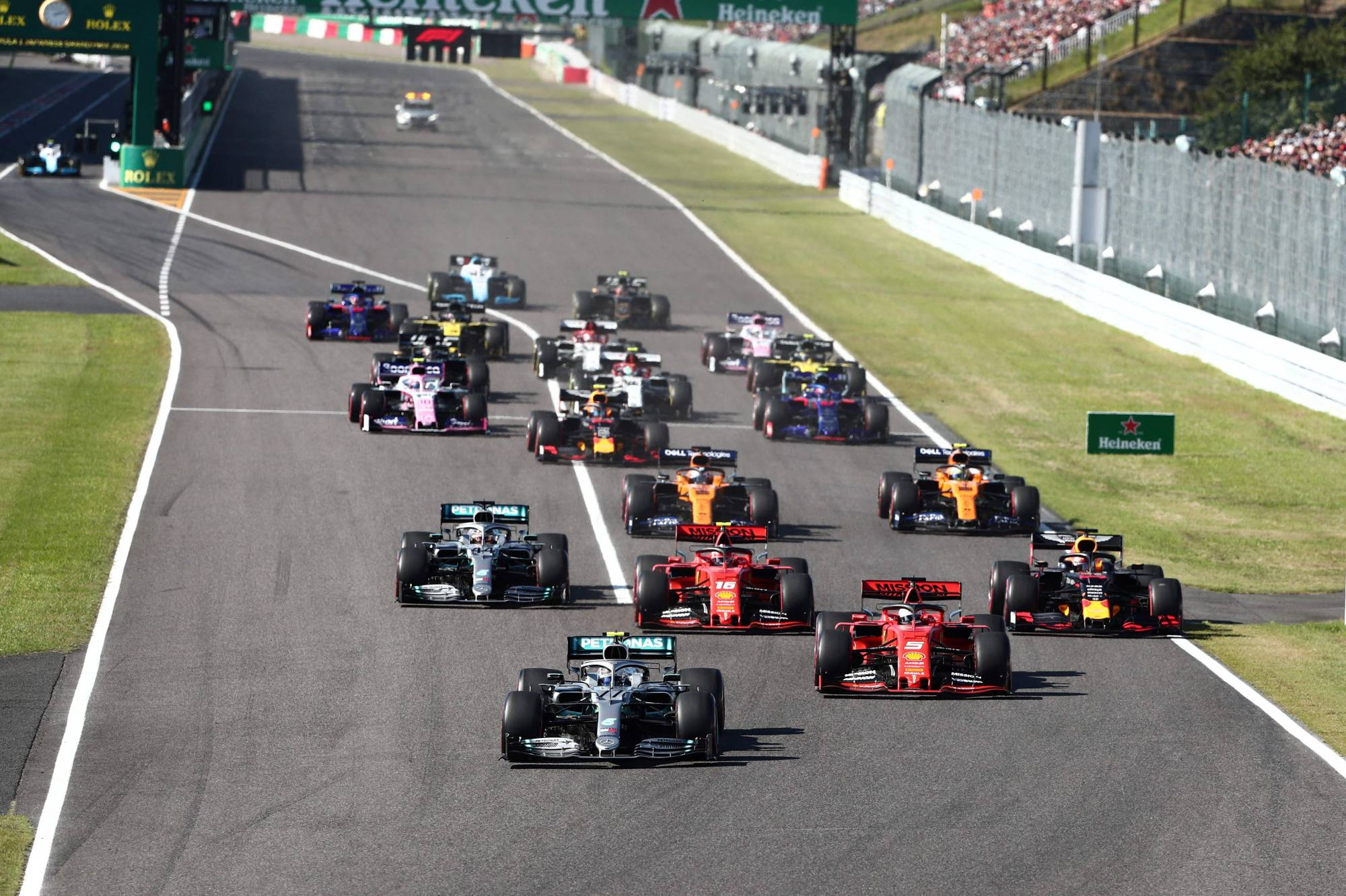 Formula One uses fuel that is equivalent to ordinary gasoline available to the public. It requires engines to use fuel that has 10% sustainable content, and the sport's governing body, the FIA, has committed to net-zero carbon by 2030.   AFP-JIJI