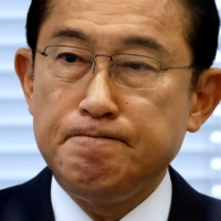 Former Foreign Minister Fumio Kishida attends a news conference as he announces his candidacy for the Liberal Democratic Party's presidential election in Tokyo on Thursday. | REUTERS
