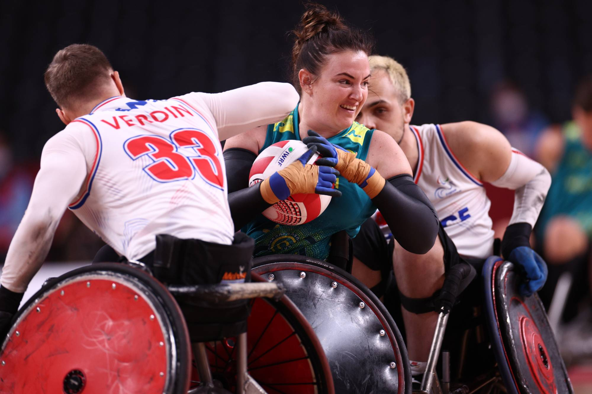 Mixed wheelchair rugby, France vs Australia   REUTERS