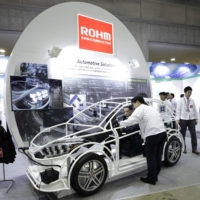 Kyoto-based chipmaker Rohm Co. has been hampered by a severe shortage of key materials as well as full production lines. | BLOOMBERG