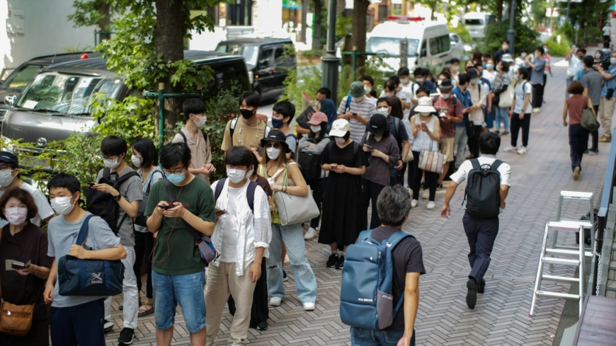 Shibuya youth vaccine site overwhelmed on opening day