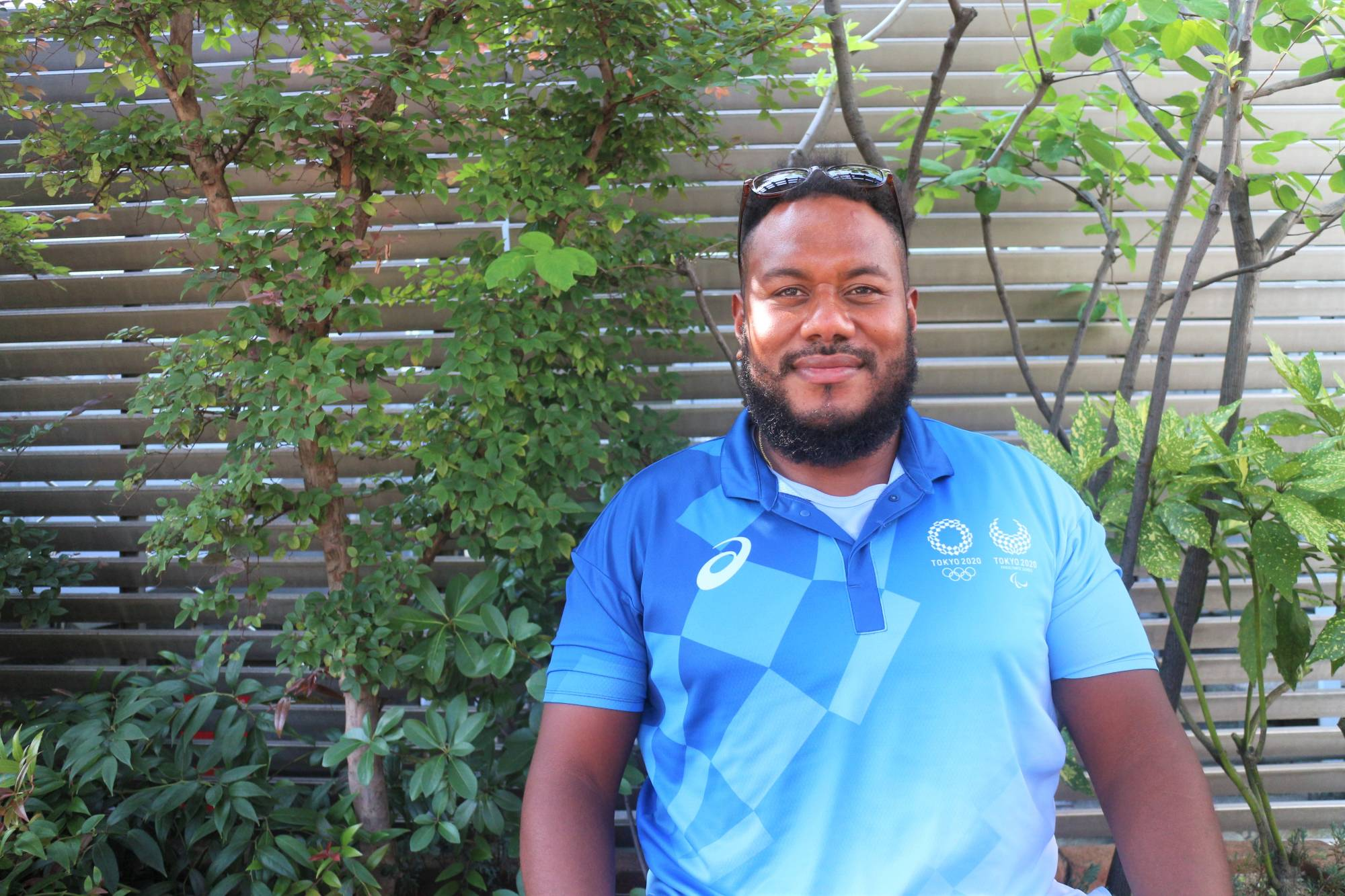 Courtside counsel: Mosese Rarasea was able to meet some of his sports heroes as a volunteer at this summer's Olympics. | HARUKA MURAYAMA