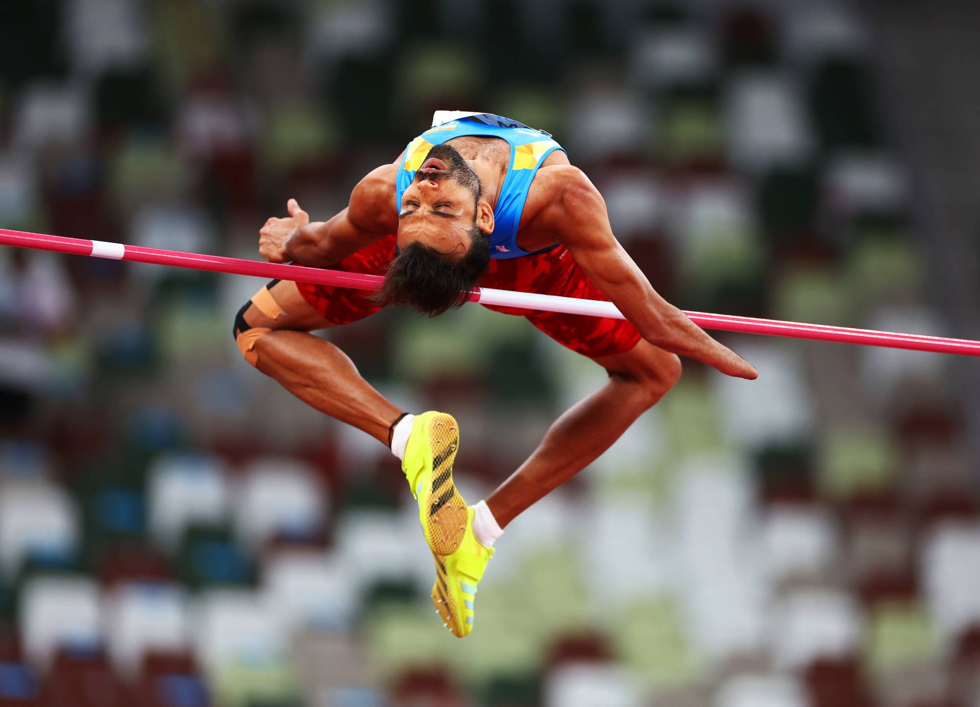 India's Ram Pal in action in the men's T47 high jump. | REUTERS