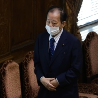 Toshihiro Nikai, secretary-general of the Liberal Democratic Party, arrives for a party leaders' debate at the Diet in June.   BLOOMBERG