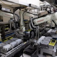 The containerized robotic system in operation