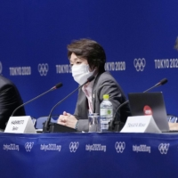 Tokyo 2020 chief Seiko Hashimoto addresses the media on Kentaro Kobayashi's withdrawal from the opening ceremony after it was discovered he made light of the Holocaust years ago. | KYODO