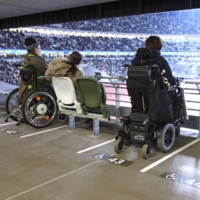 Tokyo's National Stadium was constructed with guidance from members of Japan's disabled communities. | KYODO