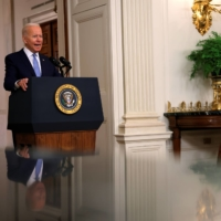U.S. President Joe Biden during a speech at the White House on Tuesday   REUTERS