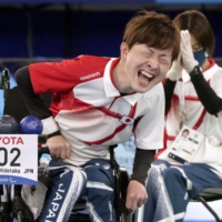 Hidetaka Sugimura put on a dominant display to win Japan's first-ever Paralympic gold in boccia, taking a 5-0 win in the individual BC2 final. | KYODO