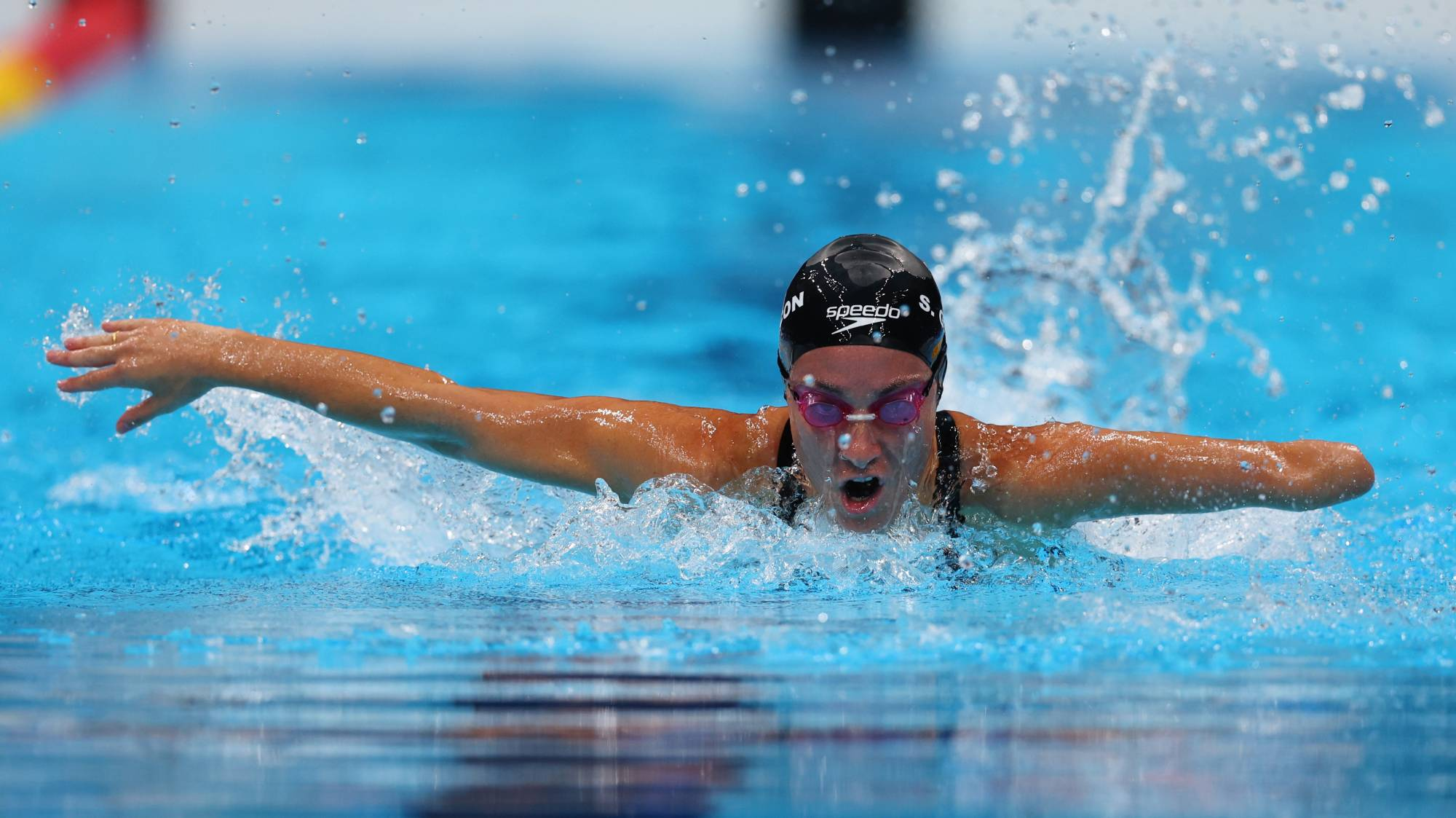 Sarai Gascon of Spain in action during a qualifying heat of the women's SM9 200-meter individual medley   REUTERS
