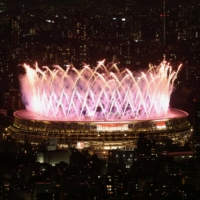 Fireworks during the closing ceremony of the 2020 Tokyo Paralympics on Sunday   REUTERS