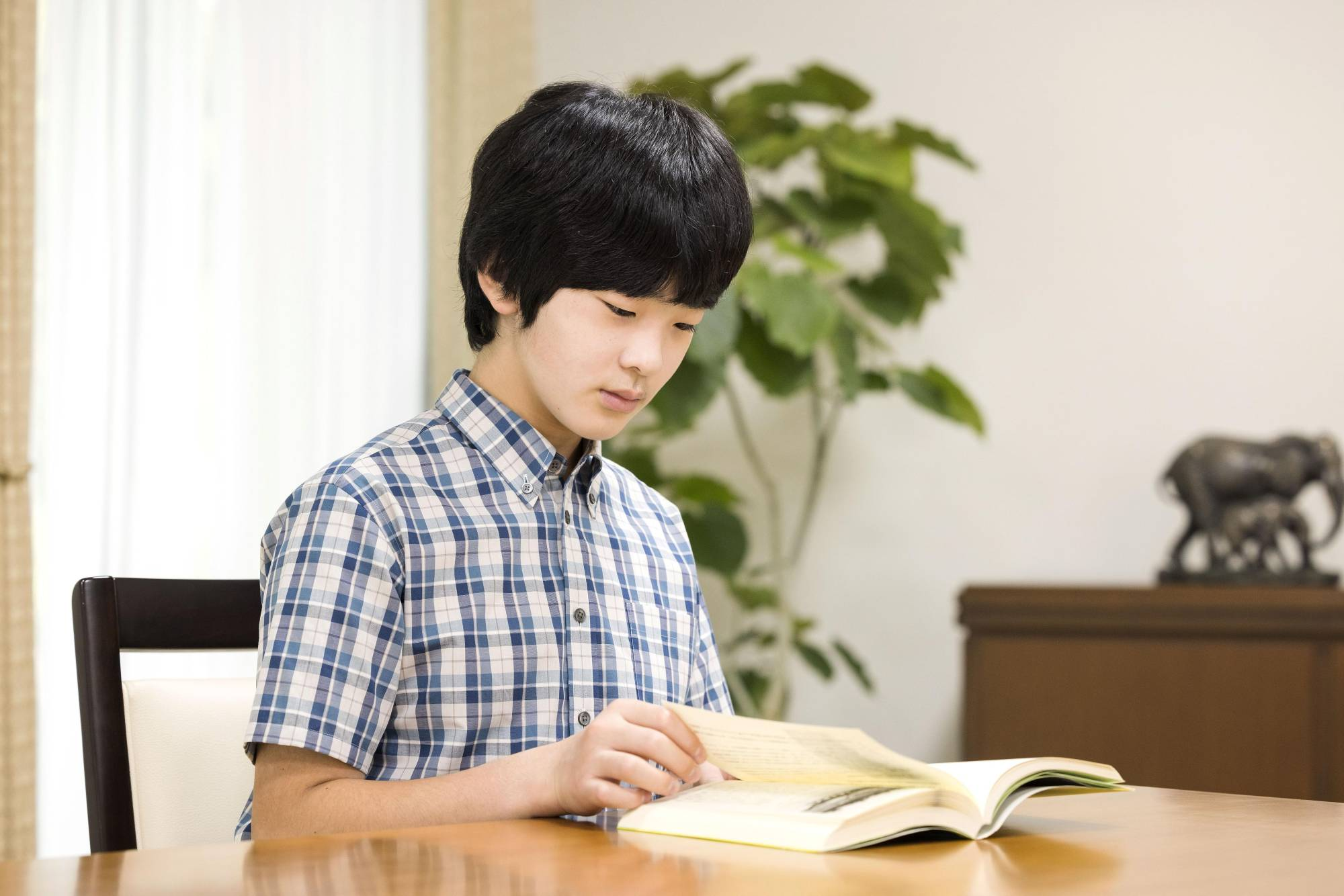 Prince Hisahito, who turned 15 on Monday, is pictured at his residence in Tokyo on Aug. 5.   IMPERIAL HOUSEHOLD AGENCY / VIA KYODO