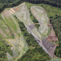 Reconstruction projects are under way in Atsuma, Hokkaido, where a 2018 earthquake and landslide caused irreparable damage to the community.  | HOKKAIDO SHIMBUN
