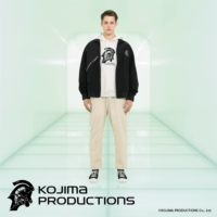 Rather than relying on motifs from his notable games, Hideo Kojima's capsule collection with GU emphasizes the logo of his production company. | GU