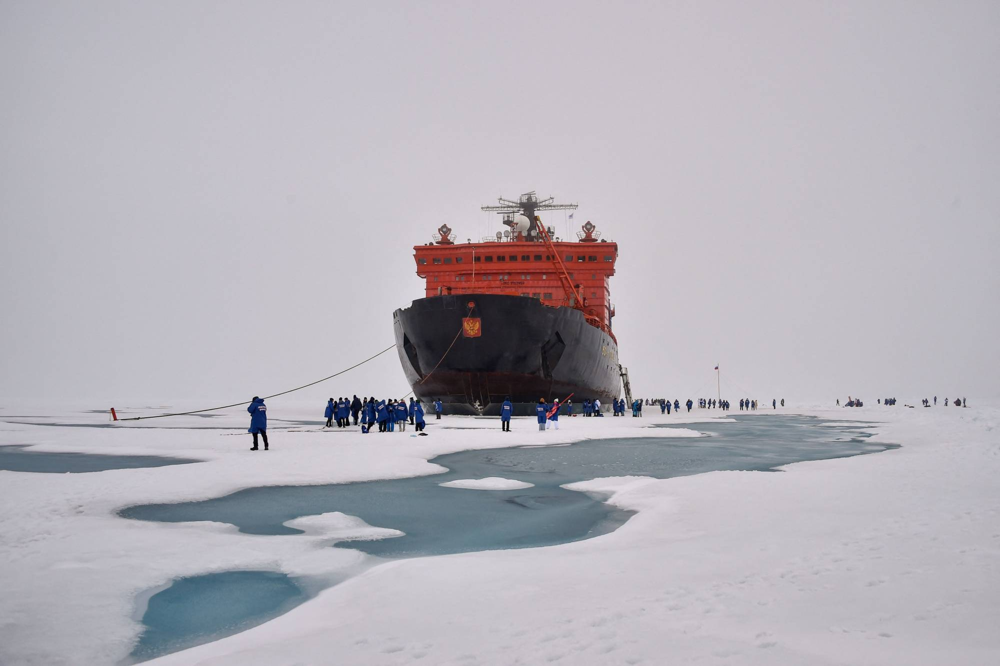 The Russian 50 Years of Victory at the North Pole on Aug. 18 | AFP-JIJI